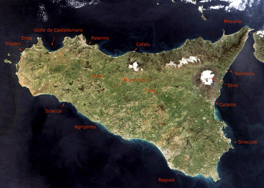 photo satellite sicile