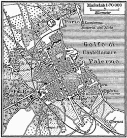 Ancienne carte de Palerme