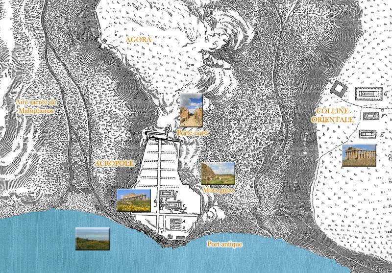 Cartina Sicilia Selinunte.Mappa Del Sito Di Selinunte Sicile Sicilia