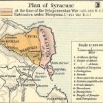 Carte de la Syracuse grecque antique