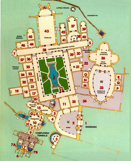 Mappa della Villa del Casale