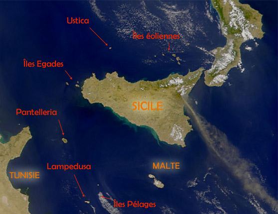 Les îles siciliennes